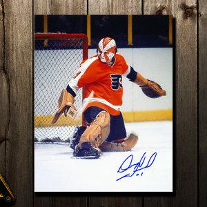 Doug Favell Philadelphia Flyers Starburst Autographed 16x20
