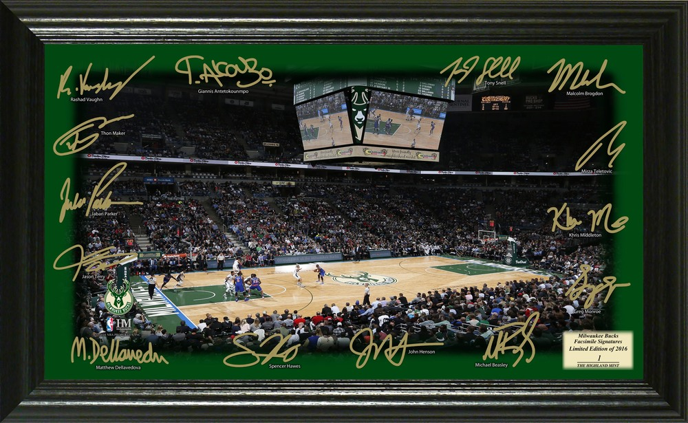 Serial #1! Milwaukee Bucks Signature Court