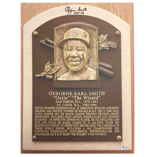 Photo of Cardinals Authentics: Ozzie Smith Hall of Fame Autographed Canvas