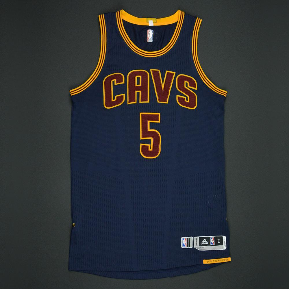 JR Smith - Cleveland Cavaliers - 2017 NBA Finals - Game 1 - Game-Worn Navy Jersey