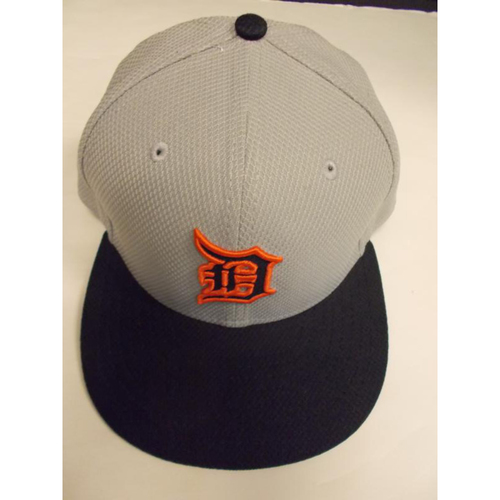 Photo of Team-Issued Alan Trammell Grey Batting Practice Cap