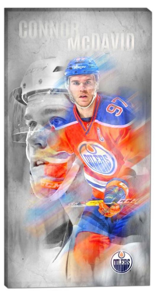 Connor McDavid - 14x28 Canvas Double-Exposure Oilers