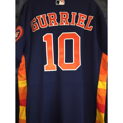 Photo of Game-Used Home Alternate Jersey: Yuli Gurriel