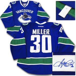 Ryan Miller Autographed Vancouver Canucks Authentic Pro Jersey