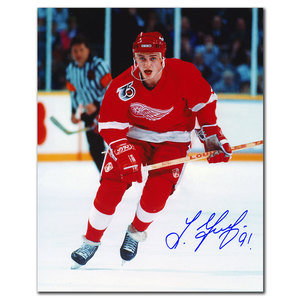 Sergei Fedorov Detroit Red Wings BREAKOUT Autographed 8x10