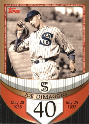 Photo of 2007 Topps DiMaggio Streak Before the Streak #JDSF40 Joe DiMaggio