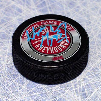 Wayne Gretzky Sault Ste.Marie Greyhounds Autographed CHL Hockey Puck - WGA COA