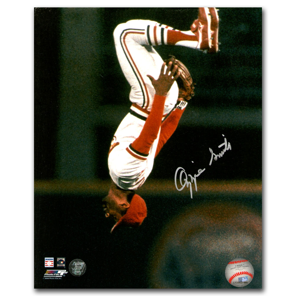 Ozzie Smith Autographed St. Louis Cardinals 16X20 Photo