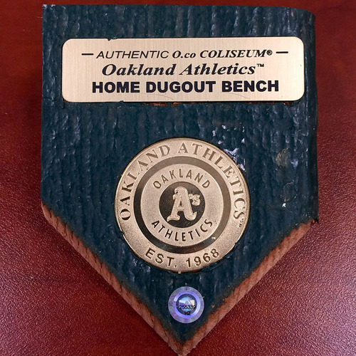 Photo of Oakland Athletics Authentic Dugout Bench Paperweight