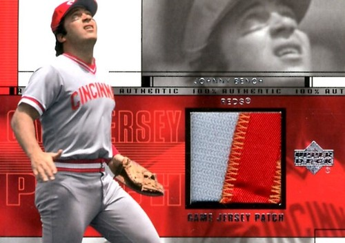 Photo of 2001 Upper Deck Game Jersey Patch #PJB Johnny Bench S2