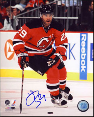 JOHN ODUYA New Jersey Devils SIGNED 8x10 Photo