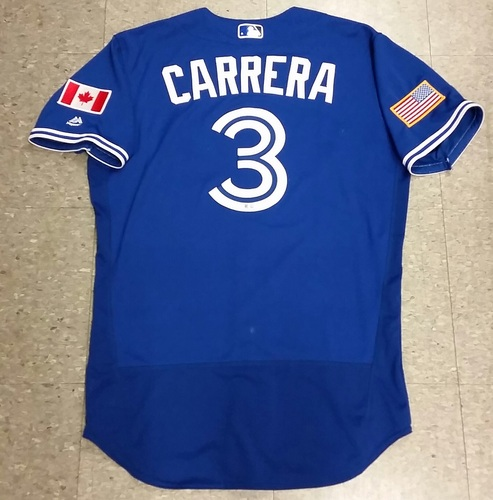 Photo of Authenticated Game Used Ezequiel Carrera July 4th - Independence Day Jersey