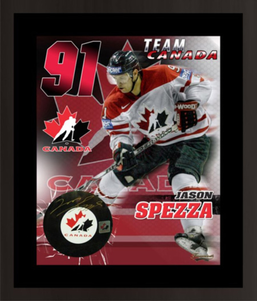 Jason Spezza Signed Puck with Print - Ottawa Senators