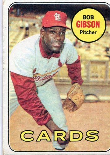 Photo of 1969 Topps #200 Bob Gibson -- Cardinals Hall of Famer