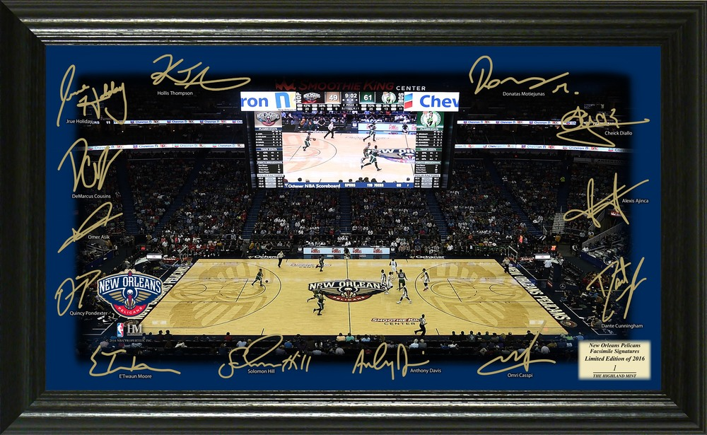 Serial #1! New Orleans Pelicans Signature Court