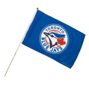 Toronto Blue Jays Primary Logo Flag 12 by Sports Vault