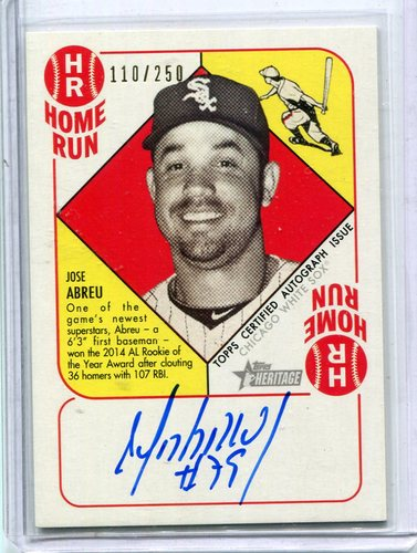 Photo of 2015 Topps Heritage '51 Collection Autographs Jose Abreu 110/250