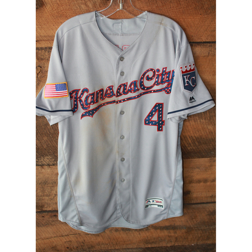 Photo of Game-Used Jersey: Alex Gordon (7/4/17 - KC at SEA - Size 46)
