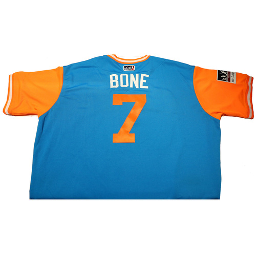 "Photo of Perry ""Bone"" Hill Miami Marlins Game-Used Players Weekend Jersey"