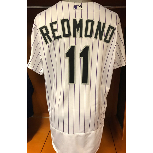 Photo of Colorado Rockies Mike Redmond Game Used Jersey to Aid Hurricane Harvey Relief Efforts