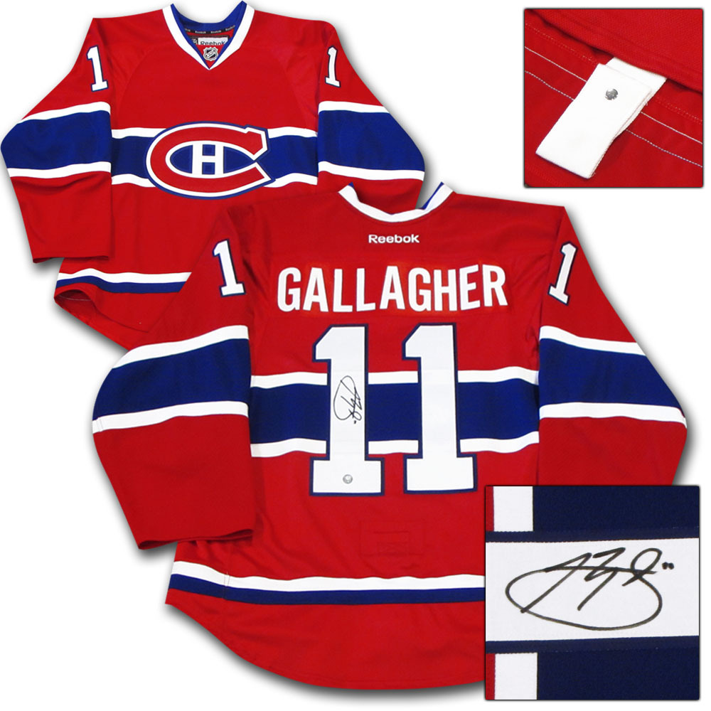 Brendan Gallagher Autographed Montreal Canadiens Authentic Pro Jersey