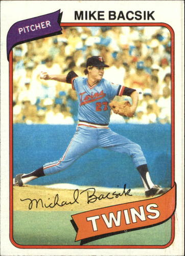 Photo of 1980 Topps #453 Mike Bacsik