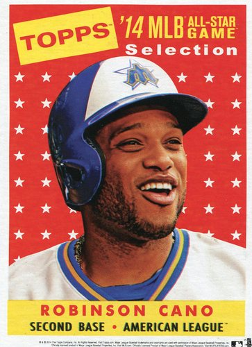 Photo of 2014 Topps 5x7 All-Star Selection Robinson Cano -- Part of exclusive Minneapolis FanFest set