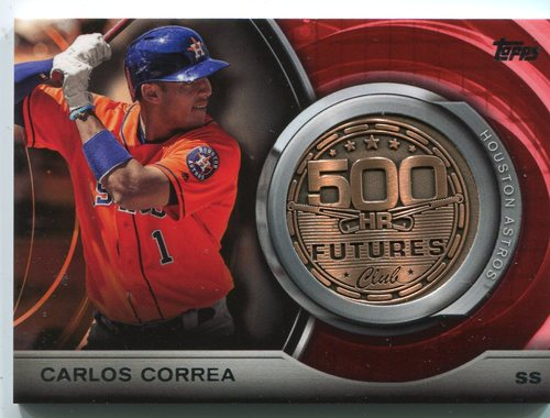 Photo of 2016 Topps Update 500 HR Futures Club Medallions #500M18 Carlos Correa