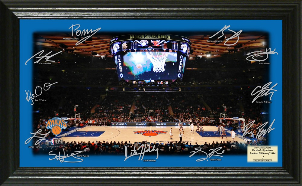 Serial #1! New York Knicks Signature Court