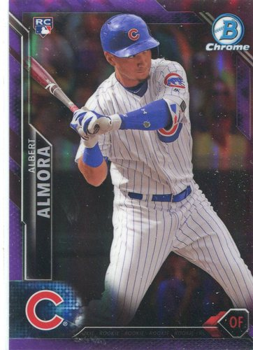 Photo of 2016 Bowman Chrome Purple Refractors #83 Albert Almora
