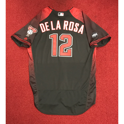 Photo of Rubby De La Rosa Game-Used and Autographed 2016 Los D-backs Jersey