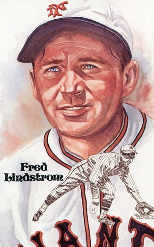 Photo of 1980-02 Perez-Steele Hall of Fame Postcards #156 Fred Lindstrom -- Set #08689