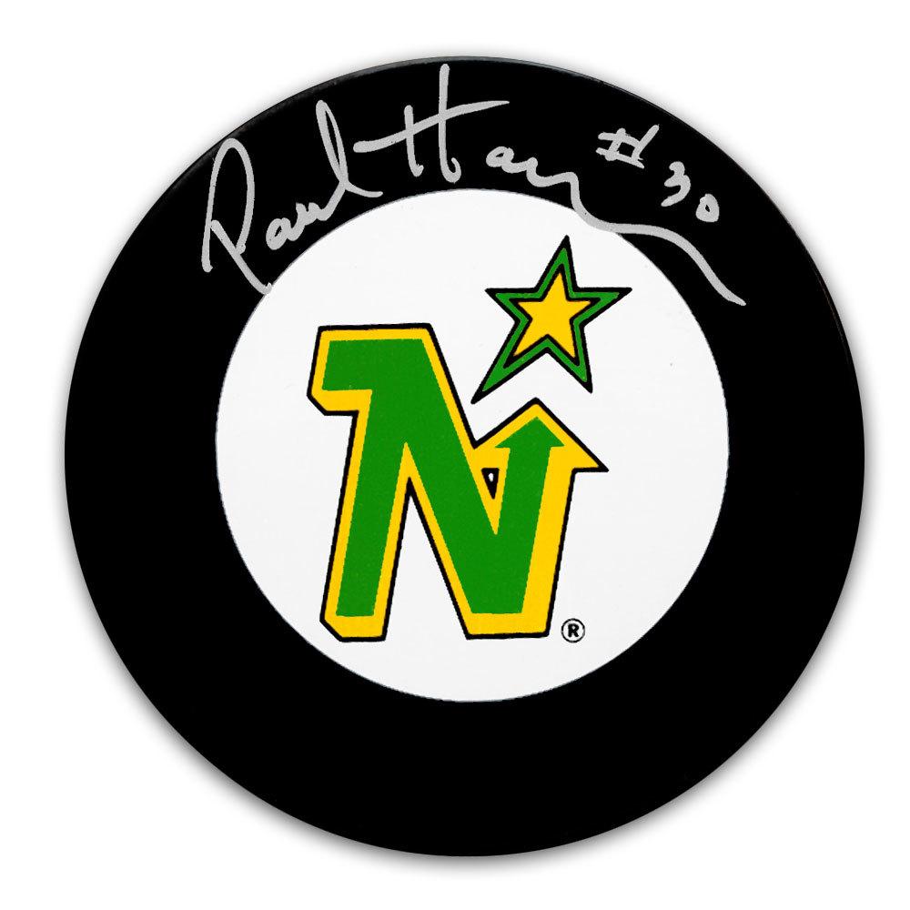 Paul Harrison Minnesota North Stars Autographed Puck