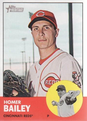 Photo of 2012 Topps Heritage #70 Homer Bailey