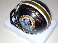 AUAF - HOF JETS CURTIS MARTIN SIGNED HOF MINI HELMET W/ HALL OF FAME 50TH YEAR ANNIVERSARY LOGO
