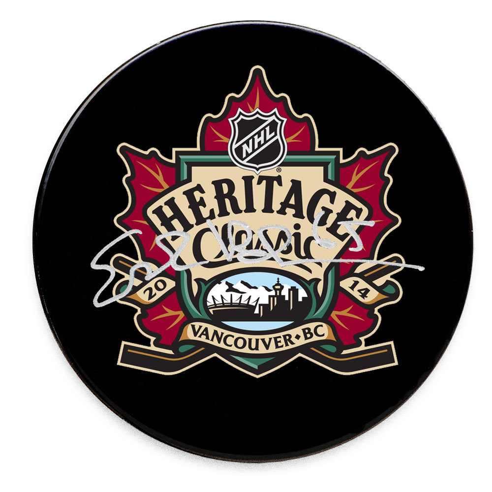Erik Karlsson 2014 Heritage Classic Ottawa Senators Autographed Puck
