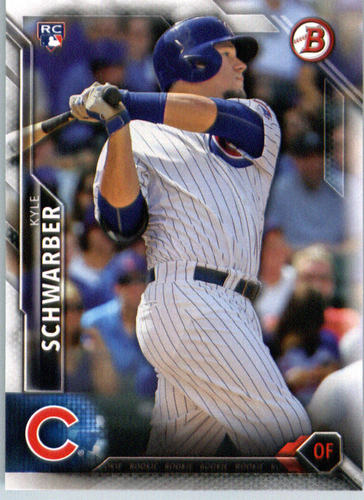 Photo of 2016 Bowman #122 Kyle Schwarber -- Chicago Cubs rookie card