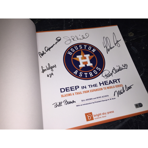 """Photo of Autographed Astros History Book, """"Deep In The Heart"""""""