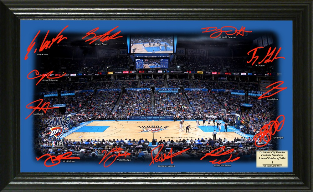 Serial #1! Oklahoma City Thunder Signature Court