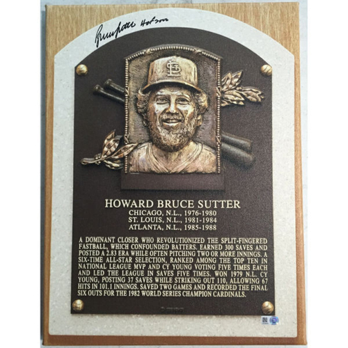 Photo of Cardinals Authentics: Bruce Sutter Hall of Fame Autographed Canvas