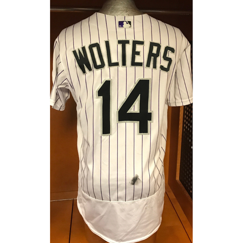 Colorado Rockies Tony Wolters 2017 Game-Used Jersey to Aid Hurricane Harvey Relief Efforts