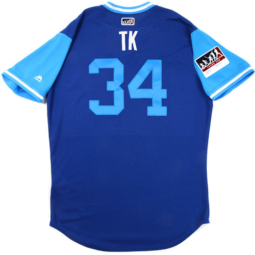 "Photo of Tom ""TK"" Koehler Toronto Blue Jays Game-Used Players Weekend Jersey"