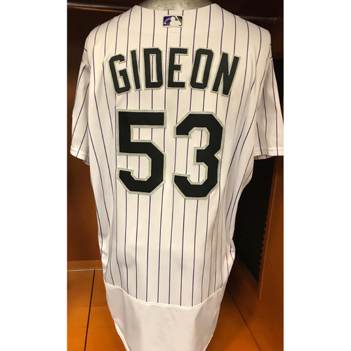 Photo of Colorado Rockies Ron Gideon Game Used Jersey to Aid Hurricane Harvey Relief Efforts