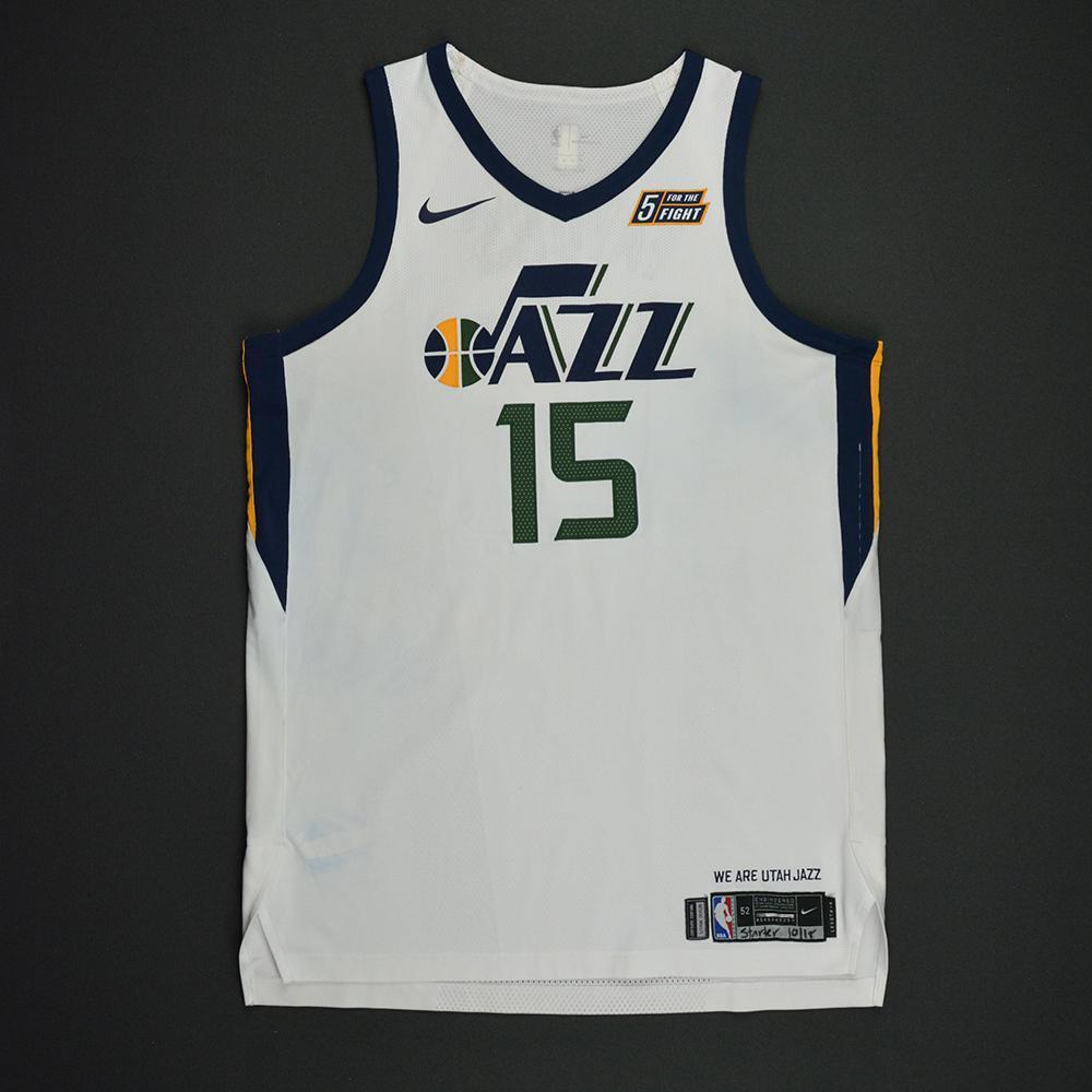 Derrick Favors - Utah Jazz - Kia NBA Tip-Off 2017 - Game-Worn Jersey
