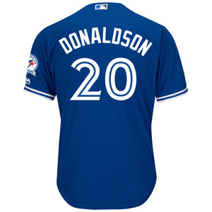 Men's 40th Season Cool Base Replica Josh Donaldson Alternate Jersey by Majestic