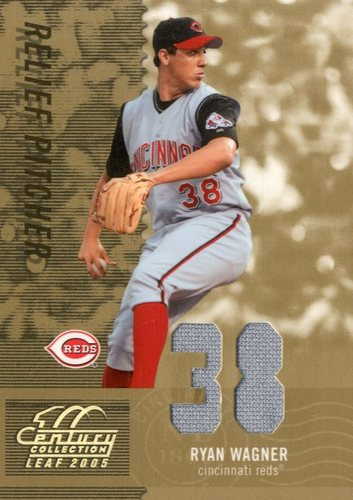 Photo of 2005 Leaf Century Material Fabric Number #78 Ryan Wagner Jsy/38