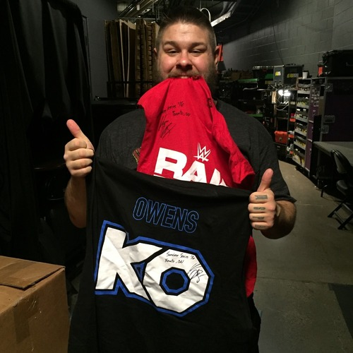 Photo of Kevin Owens WORN & SIGNED Toronto KO Special Edition T-Shirt (Survivor Series - 11/20/16)
