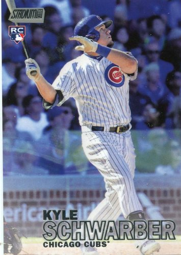Photo of 2016 Stadium Club #277A Kyle Schwarber -- Chicago Cubs rookie card