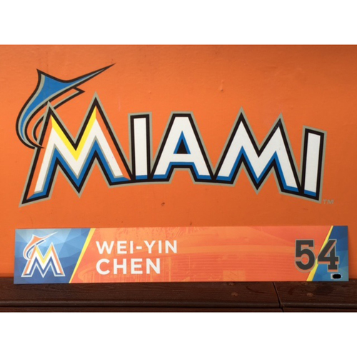 Photo of Wei-Yin Chen's Opening Day Locker Tag