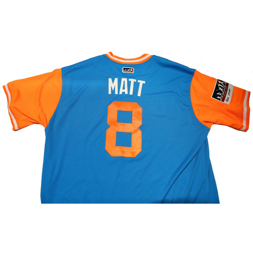 "Photo of Don ""Matt"" Mattingly Miami Marlins Game-Used Players Weekend Jersey"